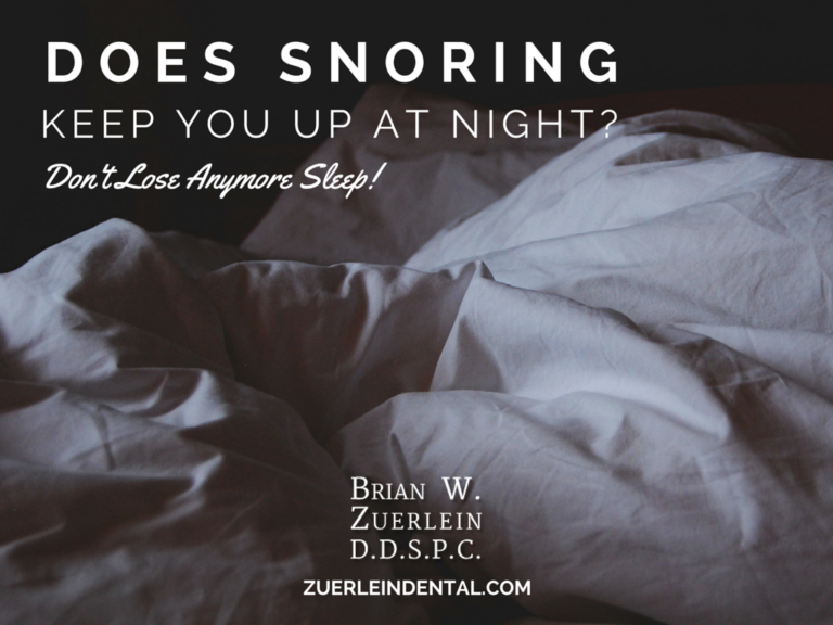 Correct Snoring and Sleep Apnea - Brian Zuerlein DDS - Omaha Cosmetic Dentist